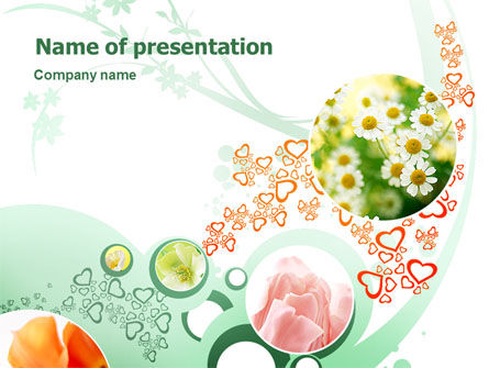 Holiday/Special Occasion: Flower Gift PowerPoint Template #02393