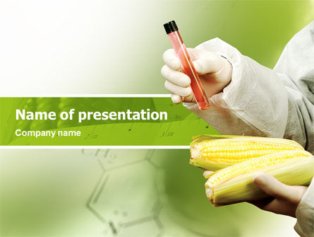 Agronomy and Genetics PowerPoint Template, 02394, Technology and Science — PoweredTemplate.com