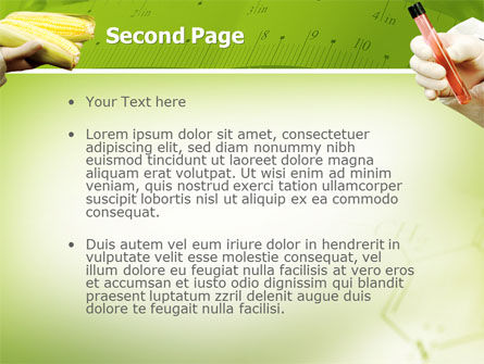Agronomy and Genetics PowerPoint Template, Slide 2, 02394, Technology and Science — PoweredTemplate.com