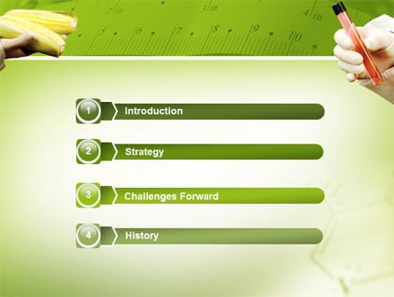 Agronomy and Genetics PowerPoint Template, Slide 3, 02394, Technology and Science — PoweredTemplate.com