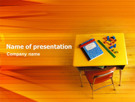 School Desk PowerPoint Template