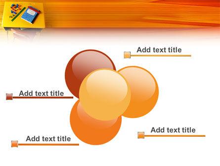 School Desk PowerPoint Template Slide 10