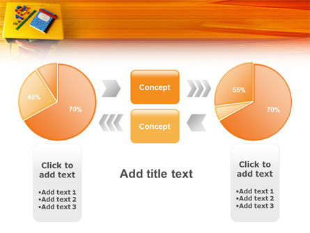 School Desk PowerPoint Template Slide 11