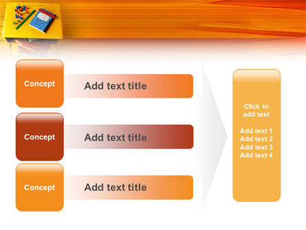 School Desk PowerPoint Template Slide 12