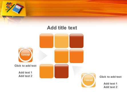 School Desk PowerPoint Template Slide 16