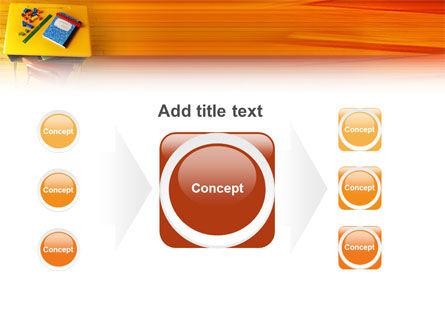 School Desk PowerPoint Template Slide 17