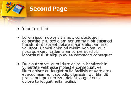School Desk PowerPoint Template, Slide 2, 02395, Education & Training — PoweredTemplate.com