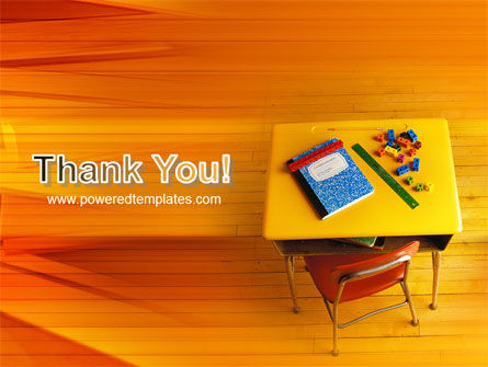 School Desk PowerPoint Template Slide 20