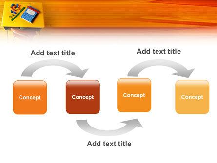School Desk PowerPoint Template, Slide 4, 02395, Education & Training — PoweredTemplate.com