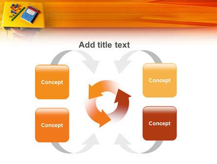 School Desk PowerPoint Template Slide 6