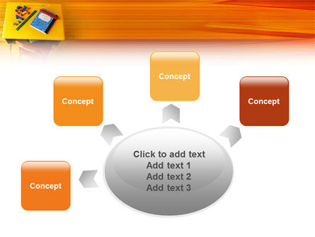 School Desk PowerPoint Template Slide 7