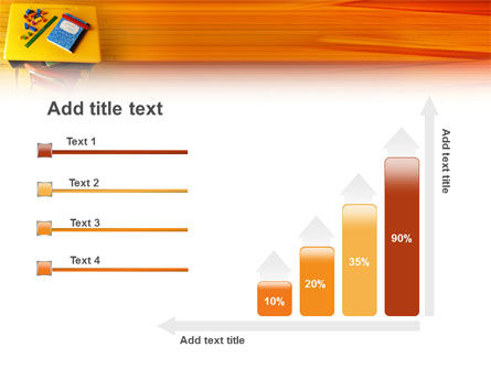 School Desk PowerPoint Template Slide 8