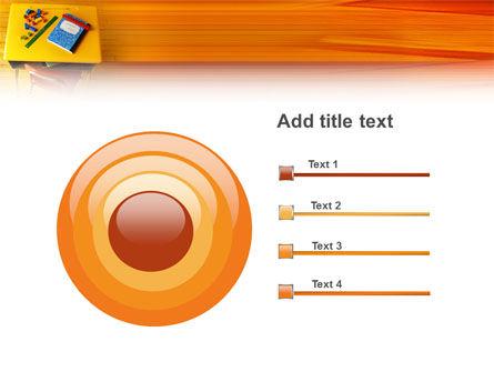 School Desk PowerPoint Template Slide 9