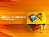 Education & Training: School Desk PowerPoint Template #02395