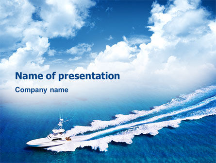 Motorboat PowerPoint Template, 02396, Holiday/Special Occasion — PoweredTemplate.com