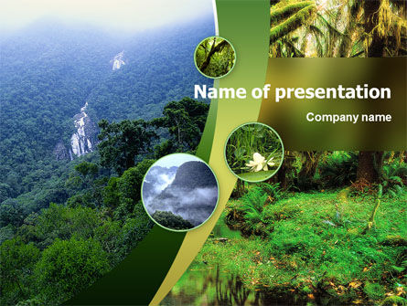 Nature & Environment: Plantilla de PowerPoint - selva #02398