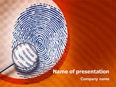 Technology and Science: Finger Print PowerPoint Template #02399