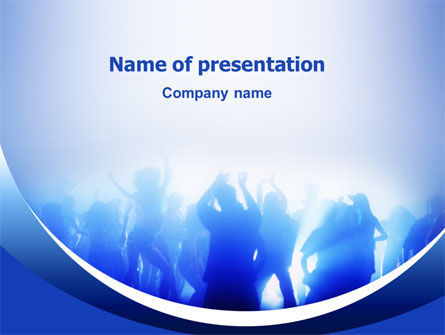 Night Club Dancing PowerPoint Template