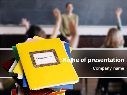 Education & Training: School Teaching PowerPoint Template #02401