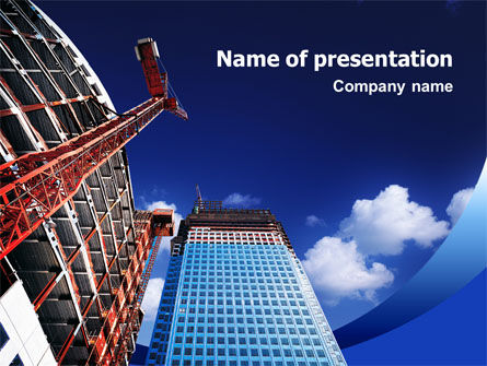 Building Company PowerPoint Template, 02402, Construction — PoweredTemplate.com