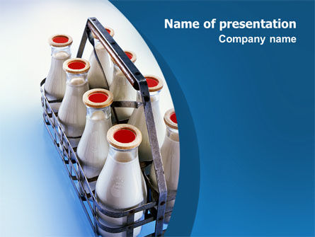 Food & Beverage: Milk Delivery PowerPoint Template #02403