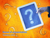 Business Concepts: Question Mark In Quiz PowerPoint Template #02404