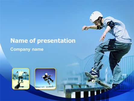 Sports: Skateboarding PowerPoint Template #02405