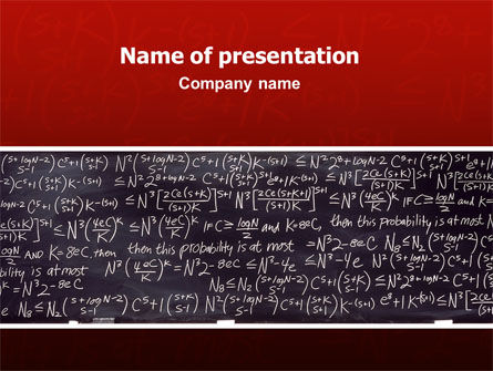 Algebraic Formulas PowerPoint Template, 02406, Education & Training — PoweredTemplate.com