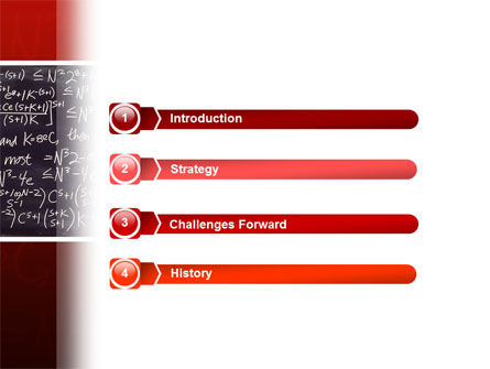 Algebraic Formulas PowerPoint Template, Slide 3, 02406, Education & Training — PoweredTemplate.com