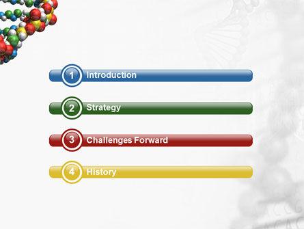 DNA On a Gray PowerPoint Template, Slide 3, 02407, Medical — PoweredTemplate.com