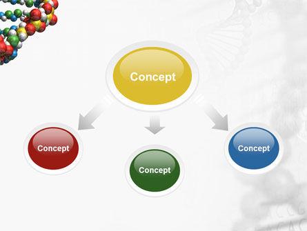 DNA On a Gray PowerPoint Template, Slide 4, 02407, Medical — PoweredTemplate.com