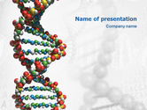 Medical: DNA On a Gray PowerPoint Template #02407
