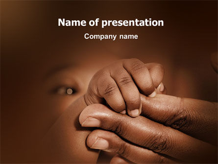 People: Baby Fingers PowerPoint Template #02409