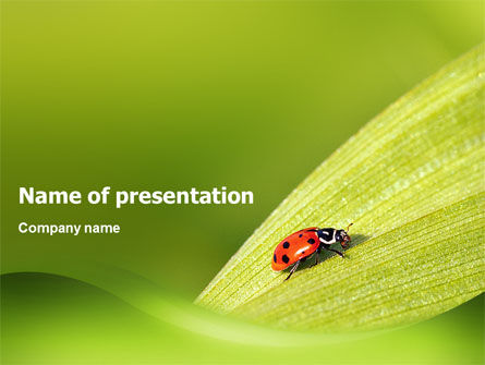 Nature & Environment: Lady-beetly PowerPoint Template #02410