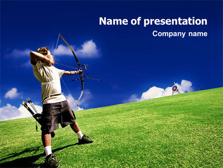 Sports: Archery PowerPoint Template #02411