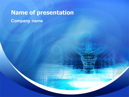 3D Modeling PowerPoint Template, 02412, Technology and Science — PoweredTemplate.com