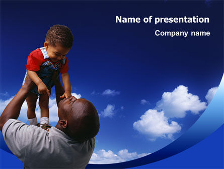 People: Father Day PowerPoint Template #02413