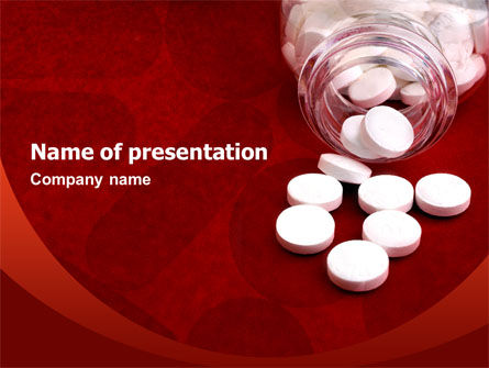Medical: Pills From The Bottle PowerPoint Template #02414