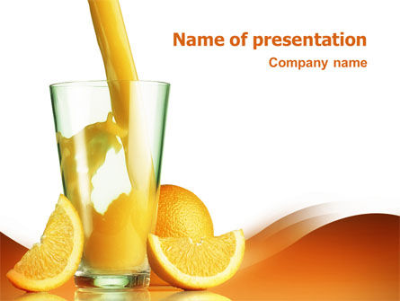 Orange Juice PowerPoint Template, 02416, Food & Beverage — PoweredTemplate.com