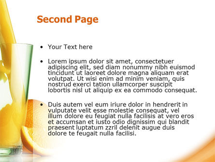 Orange Juice PowerPoint Template, Slide 2, 02416, Food & Beverage — PoweredTemplate.com