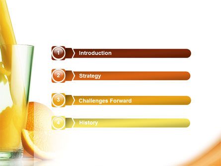 Orange Juice PowerPoint Template, Slide 3, 02416, Food & Beverage — PoweredTemplate.com