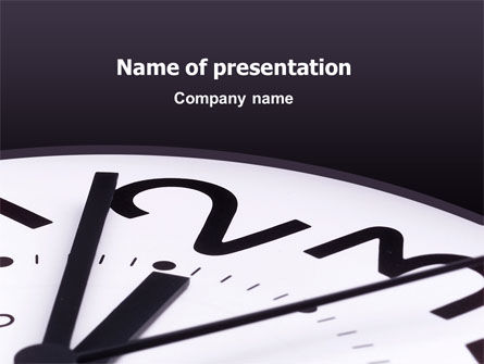 Business: Tijd PowerPoint Template #02417