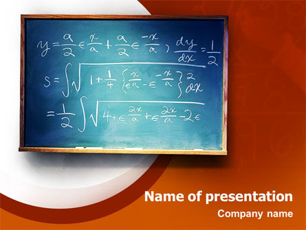 Education & Training: Math PowerPoint Template #02418