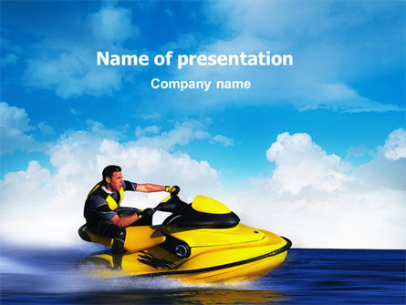 Water Motorcycle PowerPoint Template, 02421, Sports — PoweredTemplate.com