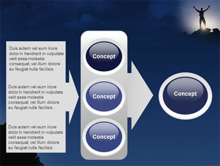 Climber On The Top PowerPoint Template Slide 11