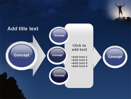 Climber On The Top PowerPoint Template Slide 17