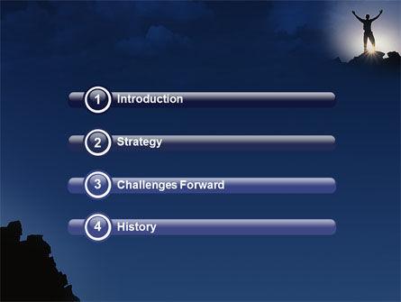 Climber On The Top PowerPoint Template, Slide 3, 02422, Nature & Environment — PoweredTemplate.com