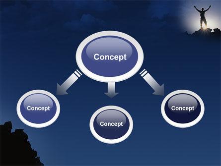 Climber On The Top PowerPoint Template, Slide 4, 02422, Nature & Environment — PoweredTemplate.com