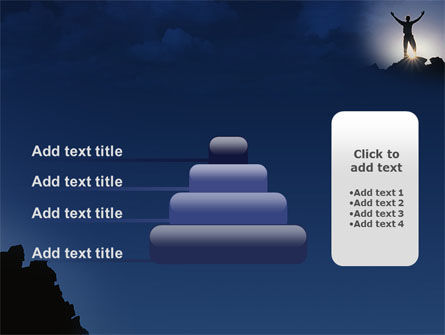 Climber On The Top PowerPoint Template Slide 8