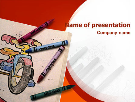 Colored Crayons PowerPoint Template